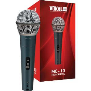 Microfone Vokal Mc10 com fio + bolsa suporte e plug 11368