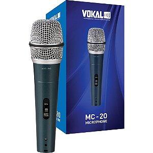 Microfone Vokal Mc20 com fio + bolsa suporte e plug 11367