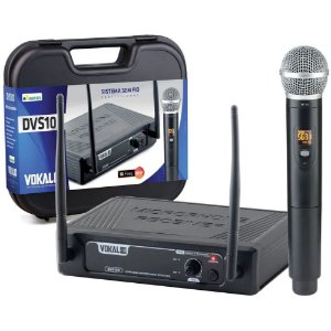 Microfone Sem Fio Vokal Dvs100sm Single Mão 11938