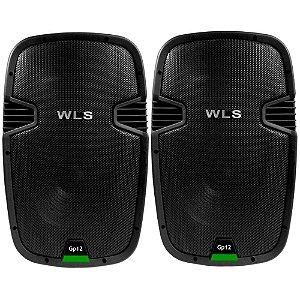Kit Caixa Ativa E Passiva Wls Gp12 Falante 12 Usb Bluetooth