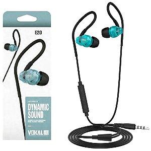 Fone De Ouvido Vokal E20 In Ear Retorno Monitor Azul