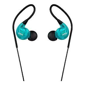Fone De Ouvido Vokal E40 In Ear Monitor Profissional Azul