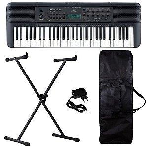 Kit Teclado Yamaha PSR-E273 61 Teclas musical Pedestal Capa