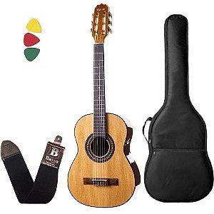 Kit Violão Baby Rozini RX205 AC. N. nylon acústico Capa
