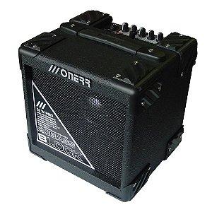 amplificador cubo onerr Block 20BA baixo c/ afinador metronomo drive
