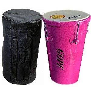 Kit Rebolo Tantanzinho Cônico Gope Rosa 10 pol x 45cm Capa