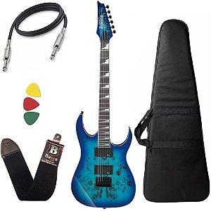 Kit Guitarra Ibanez Grgr221pa Azul Capa Regulada luthier