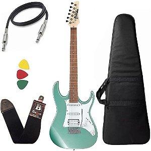 Kit Guitarra Ibanez Grx 40 Mgn Verde claro vintage + capa
