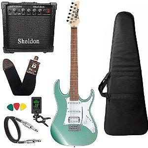 Kit Guitarra Ibanez Grx 40 Mgn Verde claro + amplificador