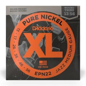 Encordoamento Daddario Guitarra 013 xl Pure Nickel Epn22