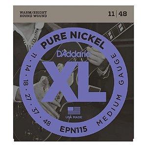 Encordoamento Daddario Guitarra 011 xl Pure Nickel Epn115