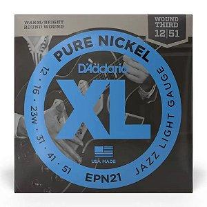 Encordoamento Daddario Guitarra 012 Pure Nickel xl Epn21
