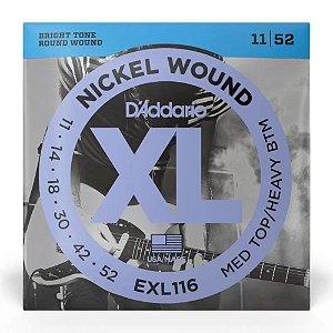 Encordoamento Daddario Guitarra 011 EXL116 Nickel Wound