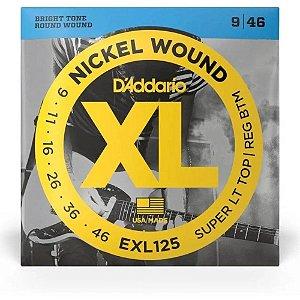 Encordoamento Daddario Guitarra 09 EXL125 Nickel Wound
