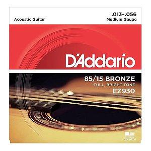 Encordoamento Daddario Violão Aço 013 EZ930 Bronze 85/15