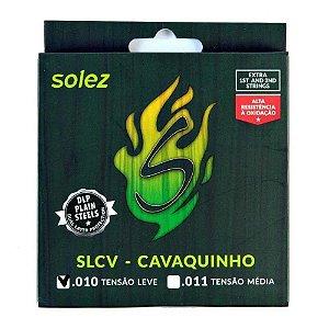 Encordoamento Cavaco Solez Dlp 010/030 Slcv Tensão Leve