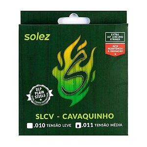 Encordoamento Cavaco Solez Dlp 011/032 Slcv Tensão Média