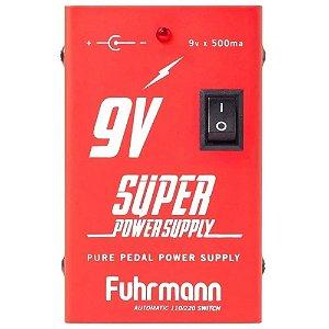 fonte Pedal Fuhrmann Power Supply 9V 500mA + Cabo FT500