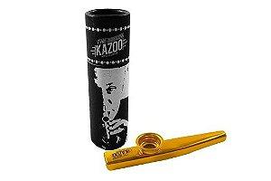 Kazoo Profissional Metálico Cor Dourado