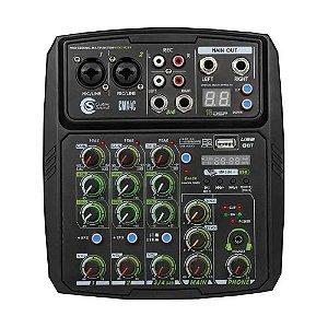 Interface Mesa De Som Custom Sound preto efeitos phantom rec
