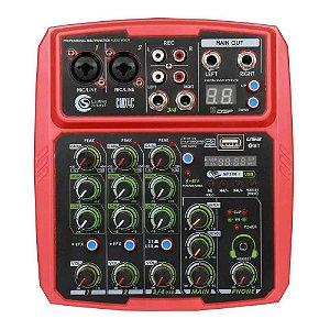 Interface Mesa De Som Custom Sound Vermelho efeitos phantom