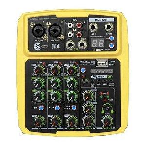 Interface Mesa De Som Custom Sound Cmx 4c Amarelo phantom P