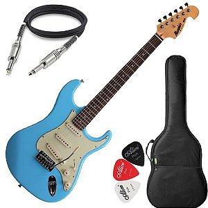 Guitarra Mod Fender Tagima Memphis Mg32 Cor Azul Vintage