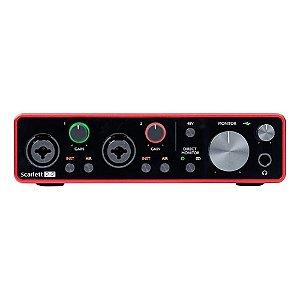 Interface de Áudio Scarlett Focusrite 2i2 3a Geração 009380