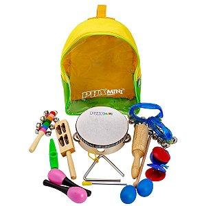 Kit Bandinha 10 instrumentos infantil e mochila TZ10-1 - Phx