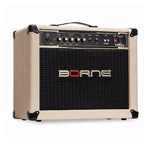 Amplificador Cubo Borne Impact Bass Cb60 20w Branco Creme
