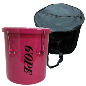 Kit Repique De Mão Gope Rosa 10x30cm Capa
