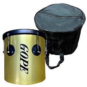 Kit Repique De Mão Gope Dourado e Preto 10x30cm Capa