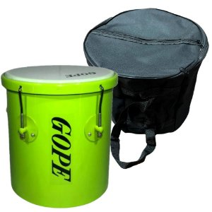 Kit Repique De Mão Gope Verde 10x30cm Capa