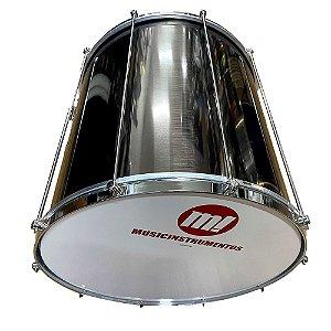 "Surdo Phx Mmusic Aluminio Liso 412LS 50x20"" 10 afinações"