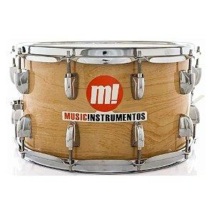 Caixa Bateria M! Music Phx 14 x 8 pol madeira profissional