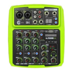 Mesa De Som interface Custom Sound Cmx 4 canais Verde Mixer