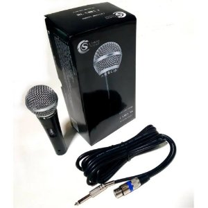 Microfone Custom Sound Csms 58 Dinâmico Cardióide Com Cabo