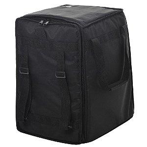 Capa bag Cajon Jpg Bags Extra Reto Nylon 600 Preta
