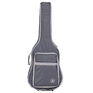 Capa bag Violão Folk Jpg Bags Stone Cinza Acolchoado