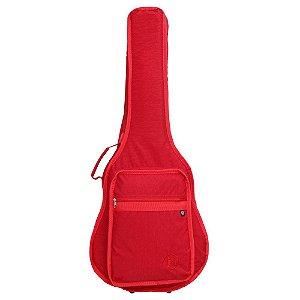 Capa bag Violão Folk Jpg Bags Stone Vermelho Acolchoado