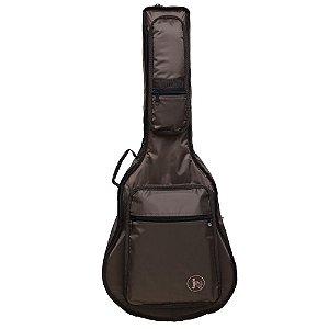 Capa bag Violão Folk couro Marrom Jpg Bags Premium Nylon 70