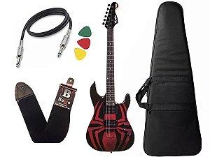 Guitarra Spider Man Homem Aranha PHX Marvel GMS1 Bag