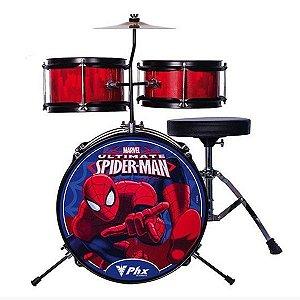 Bateria Infantil Criança PHX Spider Homem Aranha Red Bim-S2