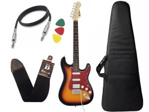 Kit Guitarra Phx Strato Power St H Sth Sunburst Bag