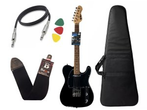 Guitarra telecaster phx TL1 Preto capa bag Cabo regulada