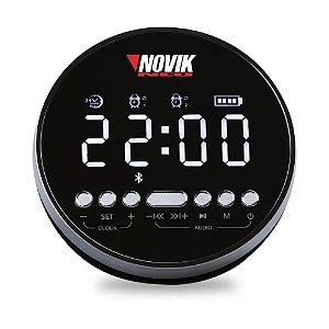 Caixa de som Relógio Digital Novik Alarme Bluetooth Neo Aion