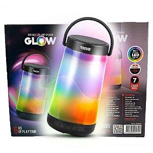 Caixa De Som Novik Glow Bluetooth Bateria Iluminação Neo