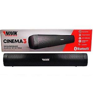 Caixa De Som Novik Soundbar Cinema3 80 Wats Rms home theater