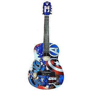 Violão Infatil Phx Marvel Capitão America Vim-C2 Azul