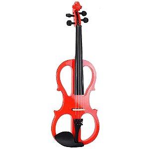 Violino vazado Vermelho Sverve Ronsani 4/4 Elétrico + Estojo